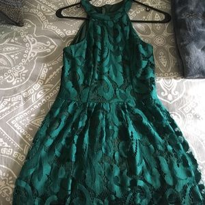 Evergreen Lace Dress